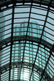 Glass Roofing with skyscraper Royalty Free Stock Image