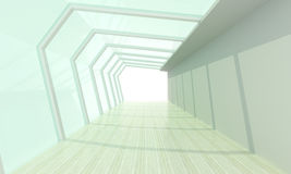 Glass room white Stock Photography