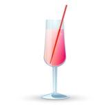 glass rosa witjh för drink Royaltyfri Illustrationer