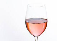 Glass of Rose Stock Images