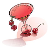 Glass of rose martini Stock Photography
