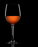 glass rose wine Royaltyfri Bild