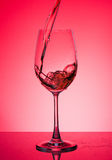 Glass with rose wine Royalty Free Stock Photo