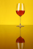 glass rose wine Arkivbild