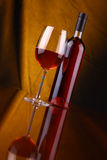 glass rose wine Royaltyfri Bild
