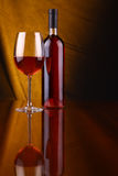 glass rose wine Royaltyfri Foto