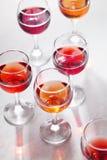 glass rose wine Arkivfoto