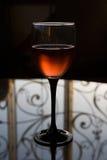 glass rose wine Royaltyfria Foton