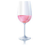 Glass with rose wine Royalty Free Stock Image