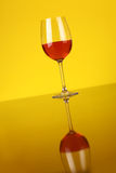 Glass of rose wine Stock Photography