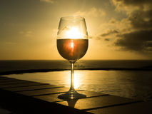 Glass of Rose wine Royalty Free Stock Images