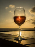 Glass of Rose wine Stock Images