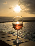 Glass of Rose wine Royalty Free Stock Photo