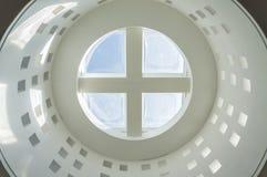 Glass rosette ceiling Stock Photo