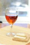 A glass of rosy wine Royalty Free Stock Photos