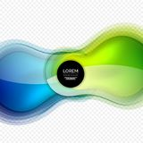 Glass round shape modern design template, abstract background Stock Photography