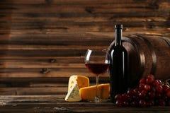 glass rött vin Fotografering för Bildbyråer