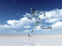 Glass runner Stock Images