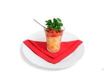 glass salladshota för ägg Royaltyfria Bilder