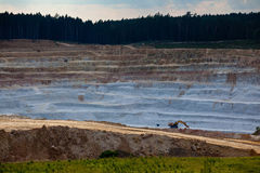 Glass sand quarry Stock Image