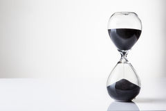 Glass sand timer Royalty Free Stock Photo