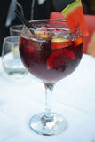 Glass of Sangria Stock Images