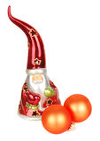Glass Santa candelstick Royalty Free Stock Image