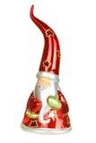 Glass Santa candelstick Stock Photography