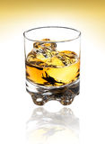 Glass of scotch with clipping path. Glass of scotch,bourbon or whiskey on white with clipping path Stock Photography