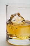 Glass of scotch and ice closeu Royalty Free Stock Photos
