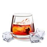 Glass of scotch Stock Image