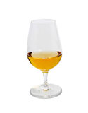Glass of scotch top view Royalty Free Stock Photos