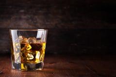 Glass of scotch whiskey Stock Photo