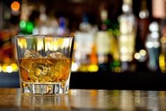 Glass of scotch whiskey Stock Photography