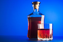 Glass of scotch whiskey Stock Images