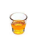 Glass of scotch whiskey on white background Stock Photo