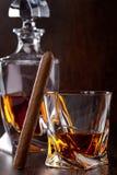 Glass of scotch whiskey Stock Photos