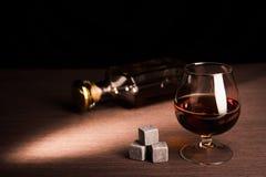 Glass of scotch whiskey Royalty Free Stock Photos