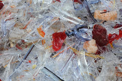 Glass scrap Stock Photos