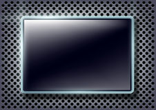 Glass screen on a metal background Stock Images