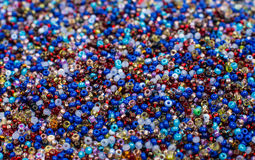 Glass Seed Bead Background Stock Images