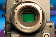 Glass sensors of video cameras. Royalty Free Stock Photo