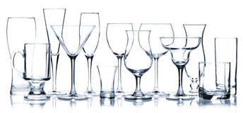 Glass series - All Cocktail Glasses Stock Images