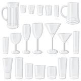 Glass set Stock Image
