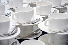 Glass set for coffee break Stock Images
