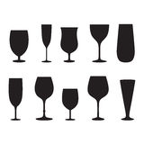 Glass set or collection. Stock Photo