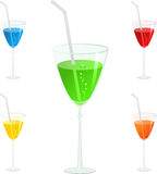 Glass set, illustration Royalty Free Stock Photography