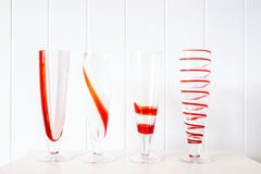 A glass set of refreshment on white background Stock Images