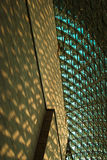 Glass and Shadows. The interior roofworks of the esplande building taken during sunset Royalty Free Stock Photography