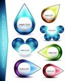 Glass shape icon set Royalty Free Stock Images